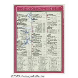Bee Gees Signed Cash Box Chart (1976). Cash Box B