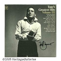 "Tony Bennett Signed ""Tony's Greatest Hits Vol. II"