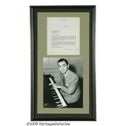 Irving Berlin Signed Letter With Photograph (1940