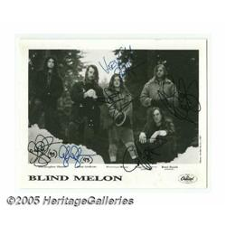 Blind Melon Signed Photograph. One of the up-and-