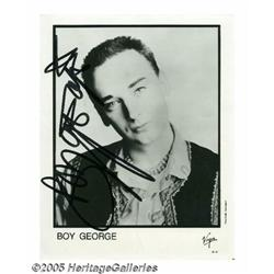 Boy George Signed Photograph. As the lead singer
