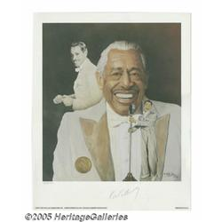 Cab Calloway Signed Lithograph. One of the great