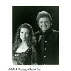 Johnny Cash and June Carter Cash Signed Photograp