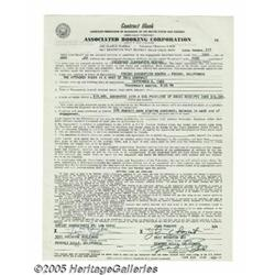 Creedence Clearwater Revival Signed Contract (196
