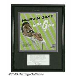 Marvin Gaye Signed Document. Grammy Award-winning