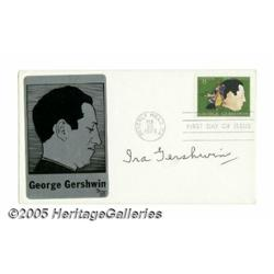 Ira Gershwin Signed First Day Cover. Featured in
