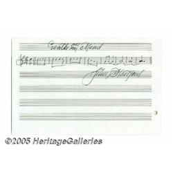 John Hartford Autographed Musical Quote. An autog