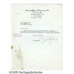 Jimi Hendrix Signed Letter. Featured is a typed l