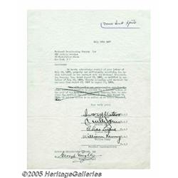 Ink Spots Signed Letter. During their three decad