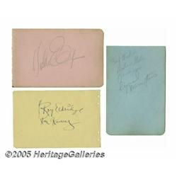 Jazz Greats Autograph Collection. Three pages fro
