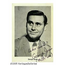 "George Jones Vintage Signed Photo. This 5"" x 7"" b"