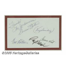 Jordanaires Signed Card with Photograph. One of t