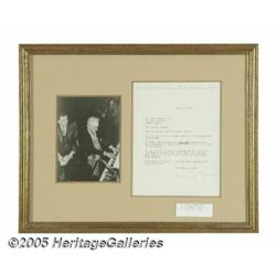 Jerome Kern Signed Letter with Photograph. Arguab