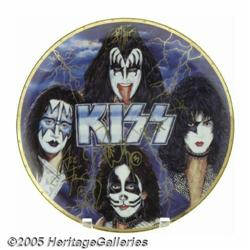 KISS Signed Commemorative Plate. Limited edition