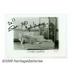 Cyndi Lauper Signed Photograph. One of the bigges