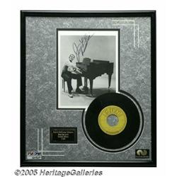 """Jerry Lee Lewis Signed Photo with 45 RPM Record """""""