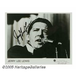 Jerry Lee Lewis Signed Record and Photograph. A c