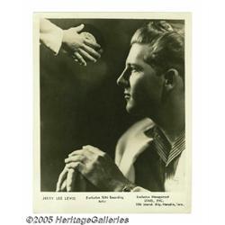 "Jerry Lee Louis Signed Photograph. A vintage 8"" x"