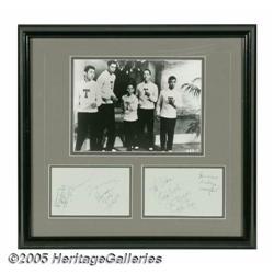 Frankie Lymon & the Teenagers Autographs. Centere