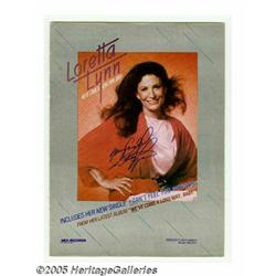"""Loretta Lynn Signed Ad. Full-page color ad for """"W"""