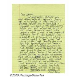 """Madonna Handwritten Letter to """"Steve."""" Here is a"""