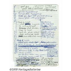 Madonna Handwritten Lyrics. Featured are the hand