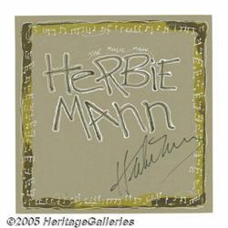 Herbie Mann Signed Fan Art. A paint-on-illustrati