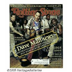 Dave Matthews Signed Cover. A copy of the March 1