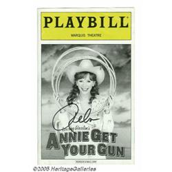 Reba McEntire Signed Playbill. A copy of Playbill