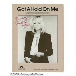 Christine McVie Signed Sheet Music. This lot feat
