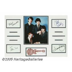 Monkees Autograph Lot. Signatures from band membe