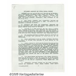 Nirvana Signed Document. An intriguing document f