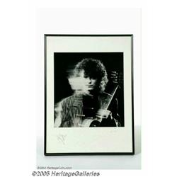 Jimmy Page Rare Signed Lithograph. Exceedingly ra