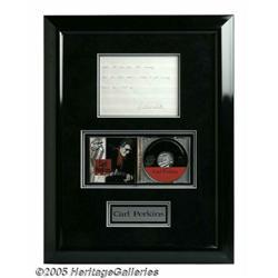 Carl Perkins Framed Lyrics. Fans of singer-songwr