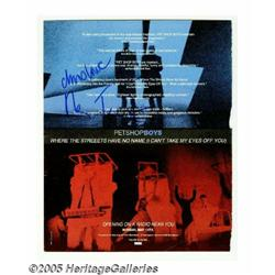 Pet Shop Boys Signed Ad. Full-page color promo ad