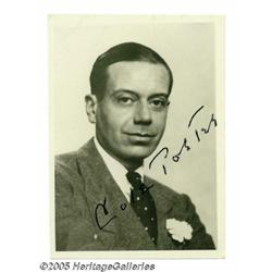 Cole Porter Signed Photograph. Size doesn't matte