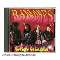 Ramones Autographed CD. A new record deal, the re