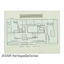 Dee Dee Ramone Painting of Chelsea Hotel Floor Pl