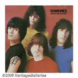 """Ramones Signed """"End of the Century"""" LP Sire SRK-6"""