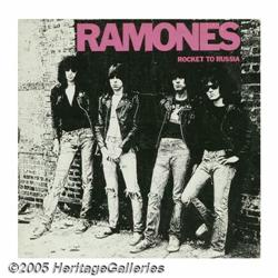 """Ramones Signed """"Rocket to Russia"""" LP Sire SRK-604"""