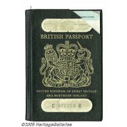 Noel Redding Passport. A cancelled British passpo