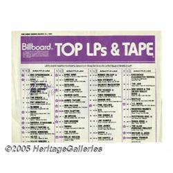 REO Speedwagon Signed Billboard Chart. Billboard