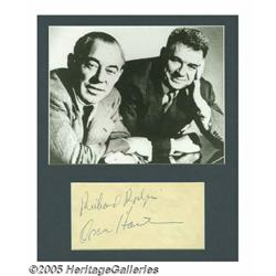 Rodgers and Hammerstein Signatures with Photograp