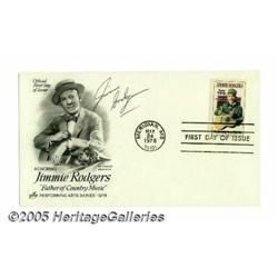 Jimmie F. Rodgers Signed First Day Cover. Dated M