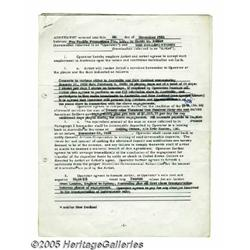Mick Jagger Signed Document. A six-page agreement