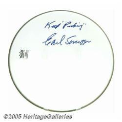 "Earl Scruggs Signed Banjo Head. Inscribed ""Keep P"