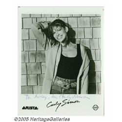 Carly Simon Signed Photograph and Other Female Mu