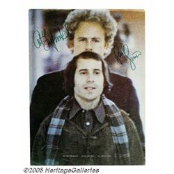 Simon and Garfunkel Signed Ad. 1970 full-page col