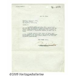Frank Sinatra Signed Letter. Featured here is a t