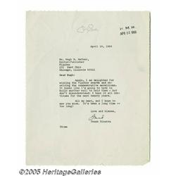 Frank Sinatra Signed Letters. This lot includes t